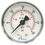 Gauge for Zone Indicator Panel and Isolation Valve